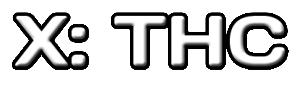 X: THC logo
